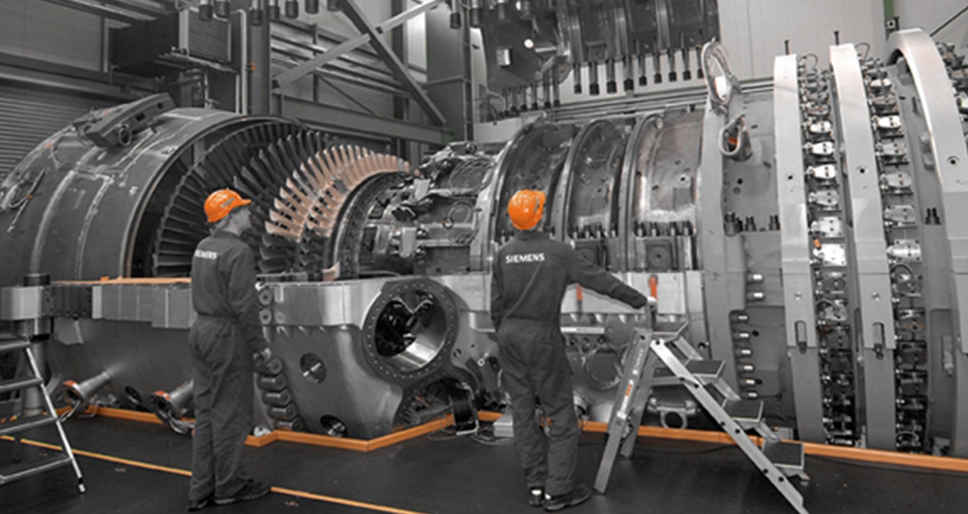 Сборка турбин в Siemens Power Generation